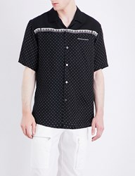 Undercover Polka Dot And Piano Print Satin Shirt Black Base