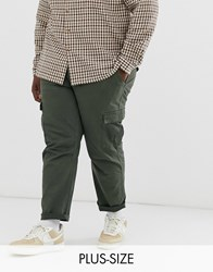 Only And Sons Tapered Cargo Trousers In Khaki Green