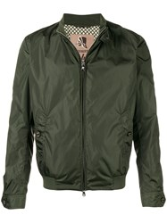 Sealup Zipped Fitted Jacket Green
