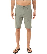 Volcom Snt Static Hybrid Shorts Army Green Combo Men's Shorts Brown
