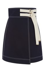 Marni Wrap Effect Mini Skirt Navy