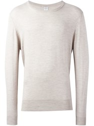 E. Tautz Crew Neck Jumper Nude And Neutrals