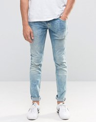 Pepe Jeans Finsbury Skinny D31 Bleach Wash Bleach Wash Blue