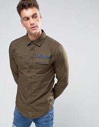 Blend Of America Slim Fit Utility Style Shirt 71506 Khaki Brown