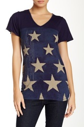 Vanilla Sugar Starlight Flutter Sleeve Tee Blue
