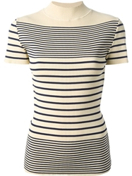 Jean Paul Gaultier Vintage Striped Top White