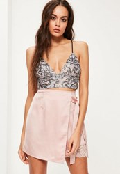 Missguided Silver Sequin Bralet