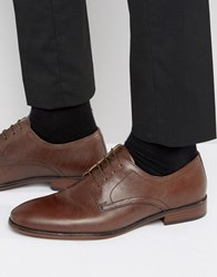Red Tape Lace Up Smart Shoes In Brown Leather Brown