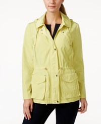 Charter Club Hooded Anorak Jacket Only At Macy's Dreamy Yellow