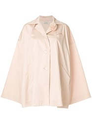 Nina Ricci Button Front Cape Nude And Neutrals