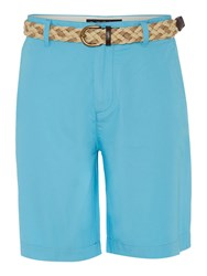 Howick Men's Boston Chino Flat Front Shorts Turquoise