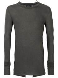 Lost And Found Ria Dunn Classic Fitted Top Men Polyamide Viscose Angora Wool S Grey
