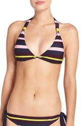 Ted Baker Women's London 'Modern Stripe' Halter Bikini Top Navy