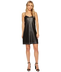 Blank Nyc Studded Vegan Leather Slip Dress In Close The Deal Close The Deal Women's Dress Black