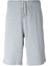 Sunspel Loopback Drawstring Bermuda Shorts Grey