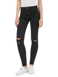 French Connection Rebound Ripped Skinny Stretch Jeans Black