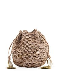 Flora Bella Stintino Small Crochet Beach Clutch Bag Neutral Pattern
