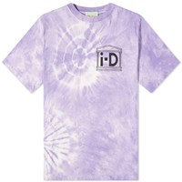 Aries X I D Flower Tie Dye Tee Purple