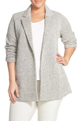 Plus Size Women's Eileen Fisher Notch Collar Twisted Terry Knit Jacket