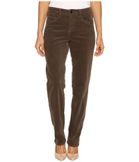 Fdj French Dressing Jeans Petite Suzanne Straight Leg Plush Cord In Taupe Taupe Women's