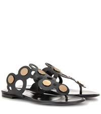 Pierre Hardy Penny Lace Leather Sandals Black