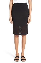 St. John Women's Collection Technical Mesh Knit Pencil Skirt