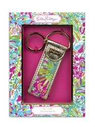 Lilly Pulitzer Leatherette Accented Canvas Key Fob No Color