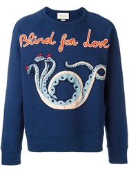 Gucci Blind For Love Sweatshirt Blue