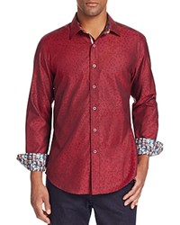 Robert Graham Basilio Classic Fit Button Down Shirt Red