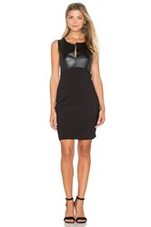 1.State Ponte Bodycon Dress Black