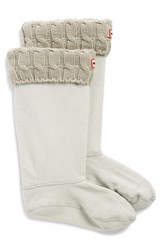 Women's Hunter Original Tall Cable Knit Cuff Welly Socks Greige