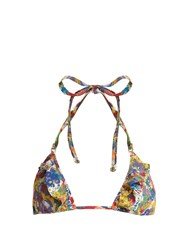 Stella Mccartney Floral Print Triangle Bikini Top Multi