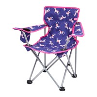 Joules Children's Folding Picnic Chair Pool Blue Carousel