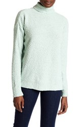 Joseph A Funnel Neck Popcorn Knit Pullover Sweater Green