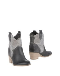 Geste Proposition Ankle Boots Beige