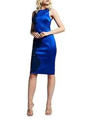 Kay Unger Satin Royal Bodycon Dress