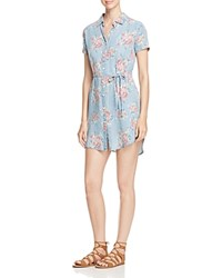 Prive Floral Print Chambray Shirt Dress Multi Floral