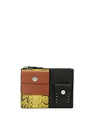 3.1 Phillip Lim Dolly Exotic Abstract Clutch Lemon Multi