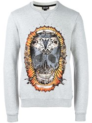 Just Cavalli Skull Print Sweatshirt Grey