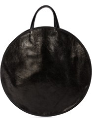 Guidi Round Tote Bag Black