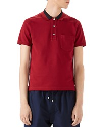 Gucci Cotton Piquet Polo Shirt Red Size Xx Large