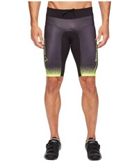 Louis Garneau Tri Course Shorts Black Bright Yellow Men's Workout