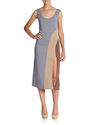Marc By Marc Jacobs Scoopneck Colorblock Tank Dress Camel