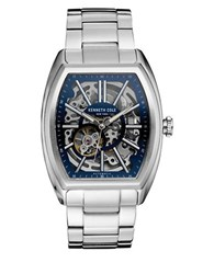 Kenneth Cole Stainless Steel Skeleton Bracelet Watch Silver