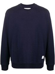 Department 5 Long Sleeve Fitted Sweatshirt Blue