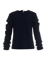 Rosie Assoulin Cut Out Hand Knitted Silk Sweater