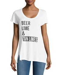 Ppla Beer Lime And Tan Lines Tee White