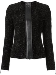 Gloria Coelho Knit Cardigan Women Leather Polyester Metal Gg Black