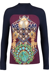 Mary Katrantzou Printed Stretch Modal Top Purple