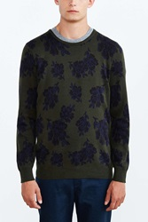 Your Neighbors Elgevien Floral Intarsia Sweater Black